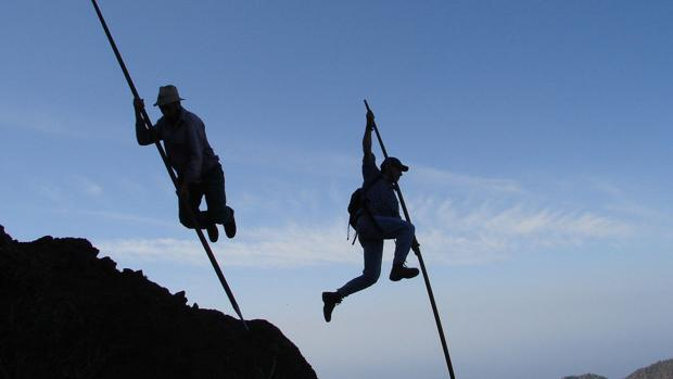 El arte de los canarios para saltar de roca en roca