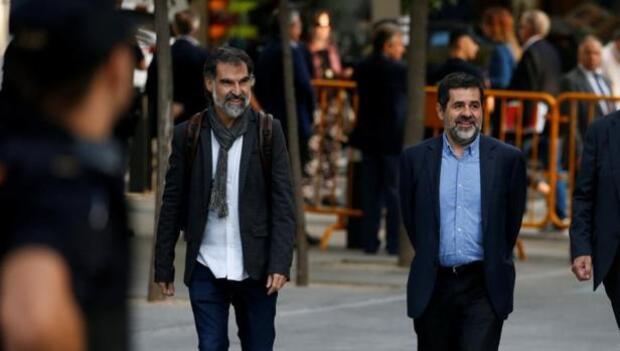 Jordi Cuixart alega a la Audiencia que medió para que los manifestantes dejaran salir a la Guardia Civil