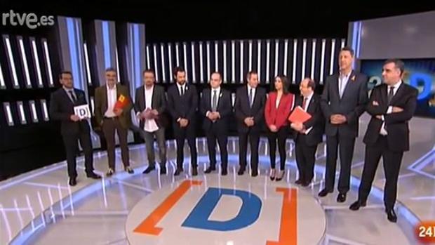 Primer debate en televisión de los candidatos a las elecciones autonómicas catalanas del 21-D