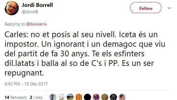 Los insultos homófobos de un profesor de la Universidad de Barcelona a Iceta: «Es repugnante»