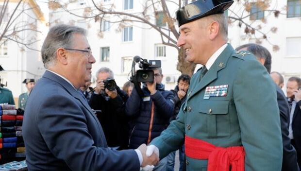 El general José Hermida toma posesión de su cargo como jefe de la Guardia Civil en Valencia