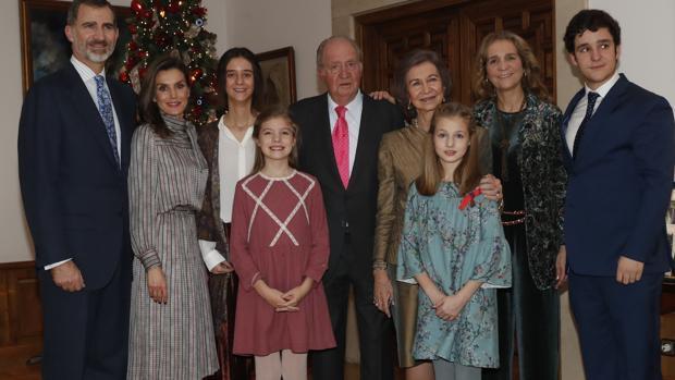La foto de familia del cumpleaños de Don Juan Carlos