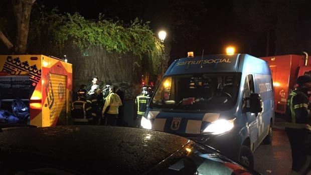Ocho heridos y cinco policías atendidos en un incendio en una residencia ancianos en Aravaca