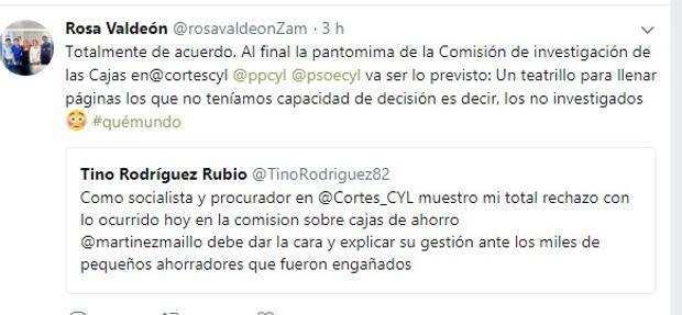 Rosa Valdeón ve la comisión de las cajas como una «pantomima» y un «teatrillo»