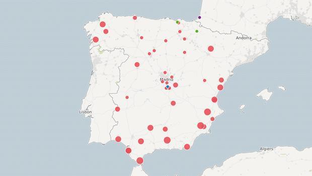 Gráfico: Así están repartidos los presos de ETA en España