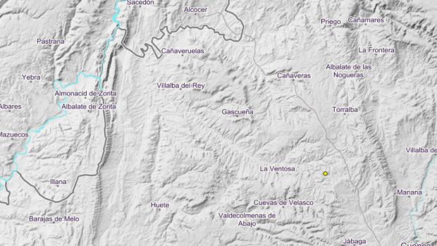 Registrados dos terremotos en Villar de Domingo García (Cuenca) y Socovos (Albacete)