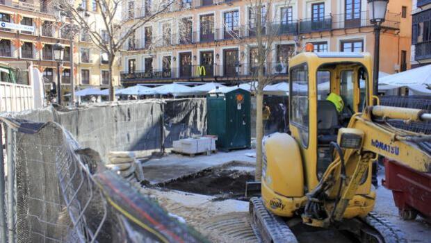 Plantan los cinco nuevos árboles en Zocodover