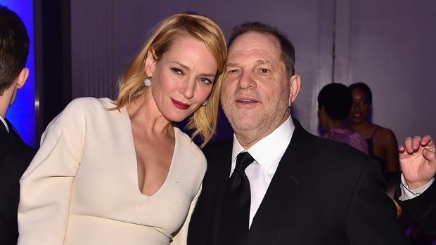 Harvey Weinstein se defiende con una foto de las acusaciones de Uma Thurman