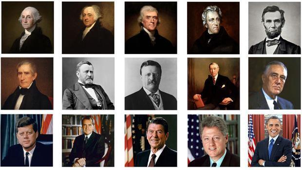 Los 45 presidentes de Estados Unidos