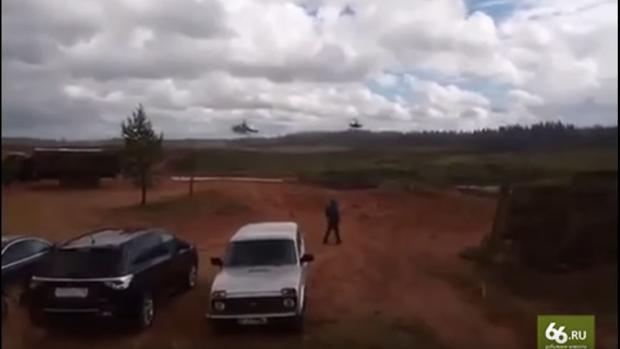 Un helicóptero ruso dispara por error contra periodistas y espectadores durante unas maniobras