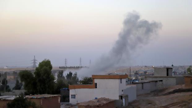 Enfrentamiento armado entre los peshmerga kurdos y las fuerzas iraquíes por el control de Kirkuk