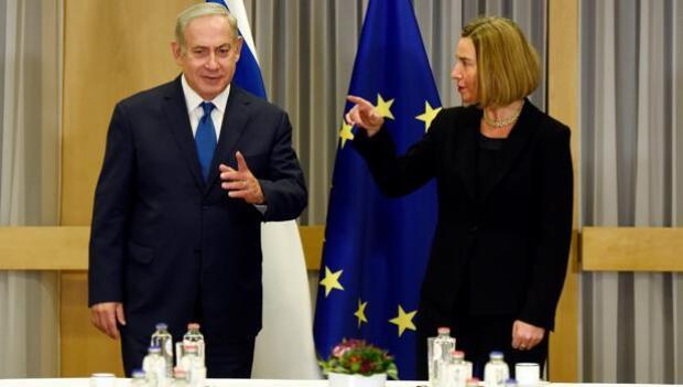 La UE se muestra contraria ante Netanyahu al traslado de la capital a Jerusalén