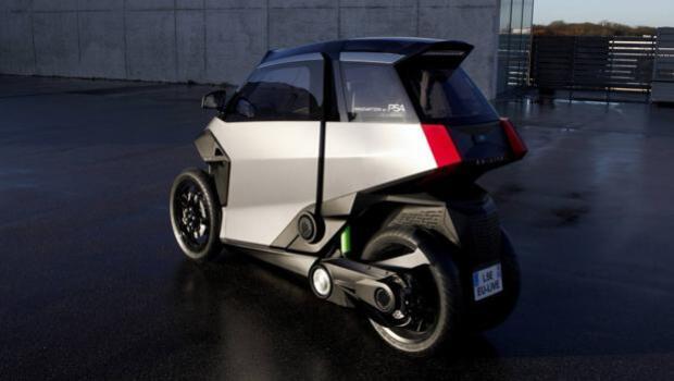 PSA propone un triciclo híbrido para uso urbano