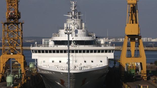 Cuatro cruceros ocuparán los diques del astillero de Cádiz hasta final de año