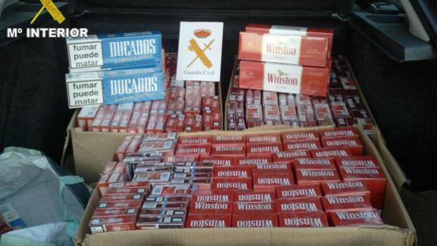 Detenidas tres personas e intervenidas 13.892 cajetillas de tabaco valoradas en más de 59.000 euros