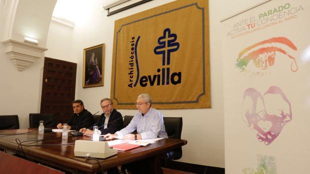 La acción de la iglesia de Sevilla contra el paro: «Trabajo decente! Como Dios Quiere»
