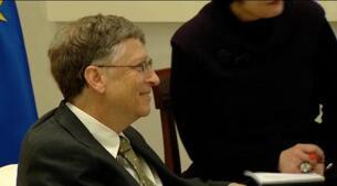 Rajoy se reúne con Bill Gates en la Moncloa