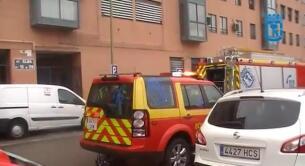 Incendio San Blas, calle Elba