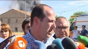 Arde una planta de reciclado con productos tóxicos en Chiloeches