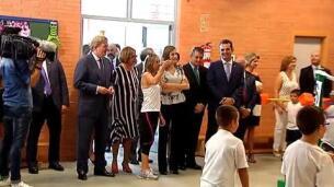 La reina inaugura el curso escolar en un colegio de Almería