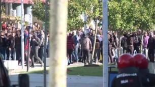 Altercados en una manifestación en Leioa (Vizcaya)