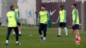 El Barça comienza a preparar el duelo en el Calderón