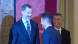 Cena de gala de Mauricio Macri y Juliana Awada a los Reyes en el Palacio de El Pardo
