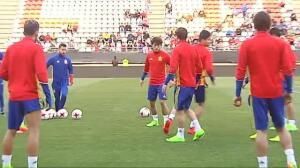 La Sub21 empieza a preparar la Eurocopa ante Dinamarca este jueves en Murcia