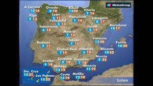 Previsión del tiempo para este lunes, 27 de marzo