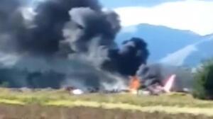 138 pasajeros huyen de un avión que echa a arder en Perú