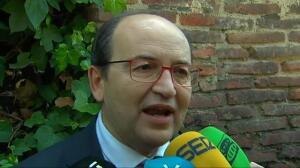 El presidente del Sevilla, José Castro, no aclara el futuro de Monchi, director deportivo del club