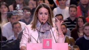 Estela Goicoetxea, telonera de Susana Díaz, dimite por mentir en su curriculum