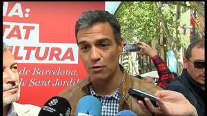 Pedro Sánchez y Miquel Iceta exhiben su buena sintonía en Sant Jordi