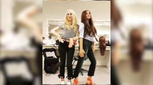 Paula Echevarría se evade bailando con Marta Hazas