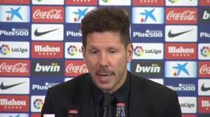 """Simeone: """"El fútbol es esto, muchas veces nos ha tocado ganar de esta manera y hoy nos tocó perder"""""""