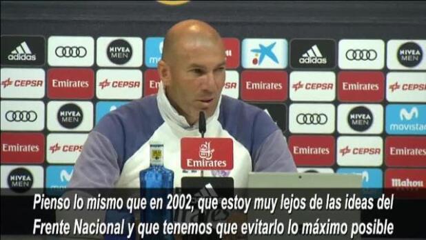 Zidane, sobre Le Pen: