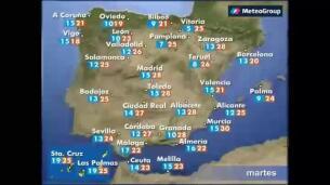 Previsión del tiempo para este miércoles 10 de mayo