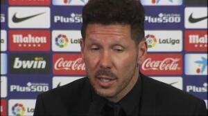 """Simeone sobre su continuidad en el Atlético: """"A 50 mil no les fallo"""""""