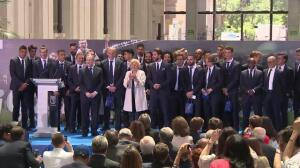 El Ayuntamiento de Madrid recibe al Real Madrid