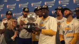 Los Warriors, campeones del Oeste