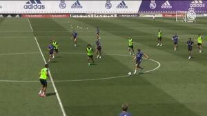 Bale entrena como uno más y quiere jugar la final de la Champions en su casa