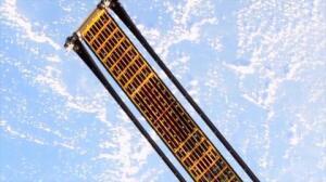 Ensayo fallido del panel solar espacial 'matasuegras'