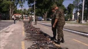 'Operación rodillo' contra las armas en Brasil