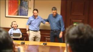 Segunda reunión entre Pablo Iglesias y Pedro Sánchez para alcanzar un pacto de izquierdas