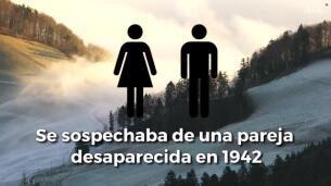 Confirman la identidad de la pareja congelada en un glaciar de los Alpes durante 75 años