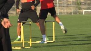 Triple sesión de entrenamiento para el Atlético de Madrid