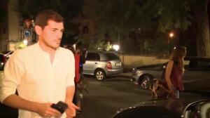 Los hijos de Iker Casillas le reciben con entusiasmo