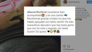 Alba Carrillo vuelve a las redes sociales