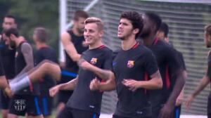 El Barça regresa a los entrenamientos tras ganar a la Juventus