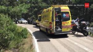 Fallece un ciclista al colisionar con una moto en el puerto de Canencia (Madrid)